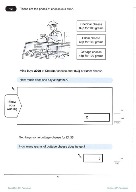ks2 maths sats revision worksheets free worksheets ks2 maths test a 2012 sats papers the