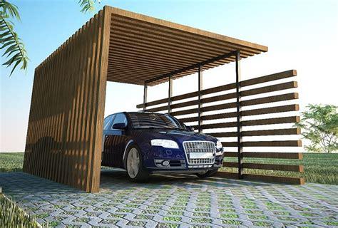 Exterior, Back To Nature  Wood Car Ports Modern Wood Car