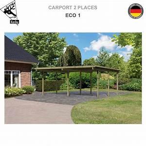 Carport 2 Voitures Bois : carport bois 2 voitures eco 1 62035 karibu a ~ Dailycaller-alerts.com Idées de Décoration