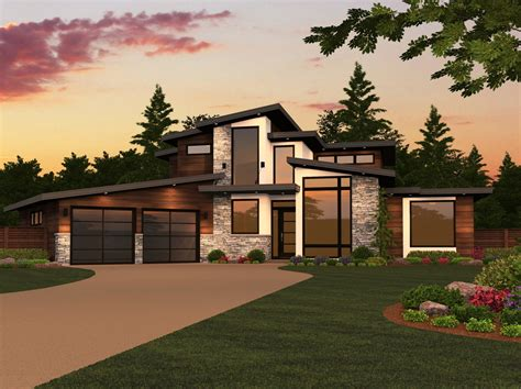 Dallas House Plan 2 Story Modern House Design Plans with