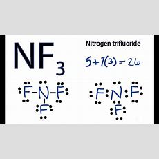 Nf3 Lewis Structure  How To Draw The Dot Structure For Nf3 (nitrogen Trifluoride) Youtube