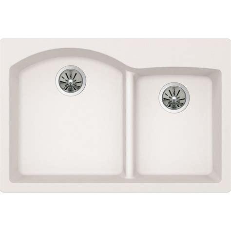 kitchen sinks drop in bowl elkay premium quartz drop in undermount composite 33 in 9590