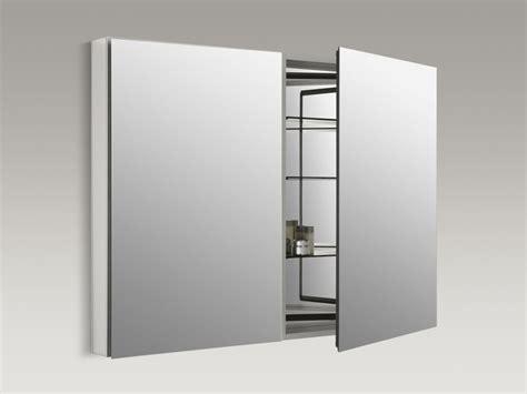 kohler 48 mirrored medicine cabinet faucet catalan48 in satin anodized aluminum by kohler