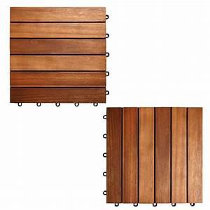 dalles pour terrasse en bois exotique acacia With dalles bois pour terrasse