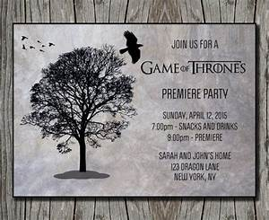 block party invitation templates winter is coming game of thrones party ideas game of