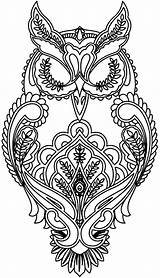 Coloring Pages Adults Animal Owl Animals Adult sketch template