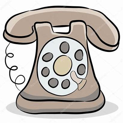 Telephone Fashioned Illustration Clipart Vector Clip Drawing