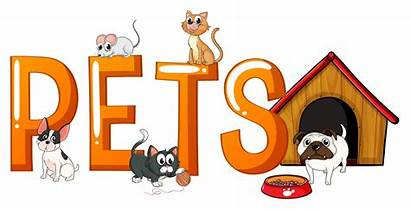Word Pets Font Vector Dog Clipart Animal