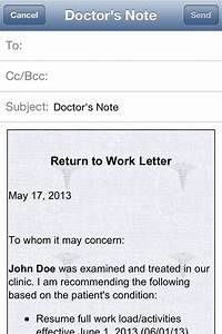 Printable Doctors Note For School Doctor S Note Iphone And Ipad Medical App Review