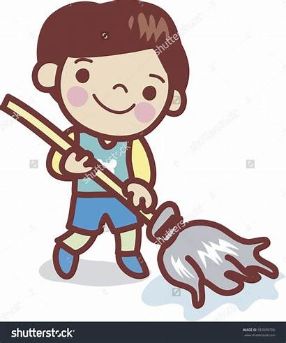 Mop Clipart Cleaning Floor Clip Mopping Clipground