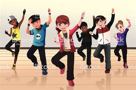 Kids In Hip Hop Dance Class Stock Vector Art & More Images
