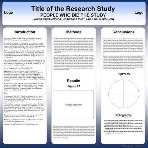 research poster template poster