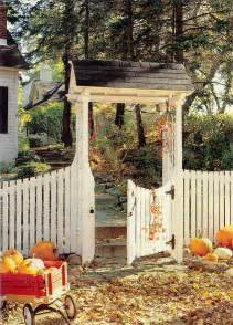 Cottage Garden Picket Fence Gate