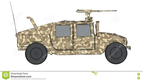 humvee side view camouflaged 3d render side view of humvee military vehicle