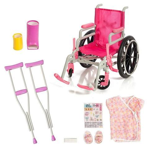 "Beverly Hills, Wheel Chair/ Crutches Set, Fits 18"" Doll"