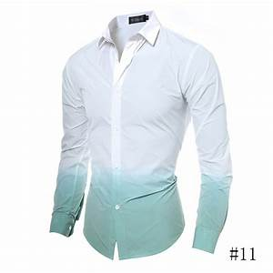 Fashion Foral Pattern Slim Fit Shirts Mens Tops Color Tie ...