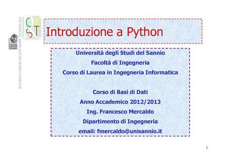 dispense linguaggio c prima lezione di linguaggio python basi di dati dispense