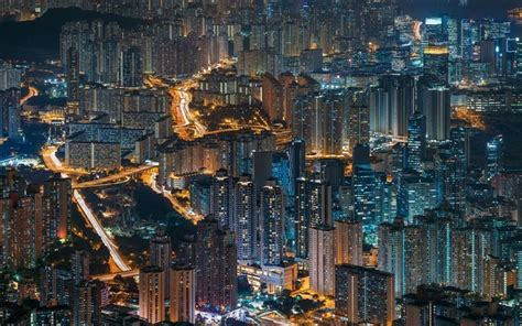 wallpapers hong kong nightscape city lights