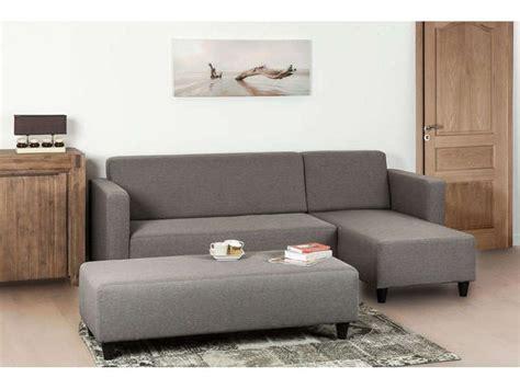 canapé d angle avec banc canapé d 39 angle fixe 4 places avec banc haly coloris gris