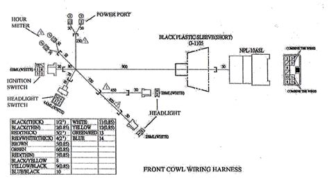 Yerf Gy6 Wiring Harnes Diagram by Wire Cowl For Yerf Cuvs 05137 Bmi Karts And