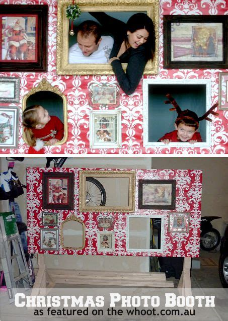 christmas photo booth crafty pinterest