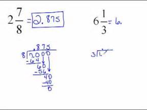 how do you turn decimals into fractions converting mixed numbers to decimals 4 6