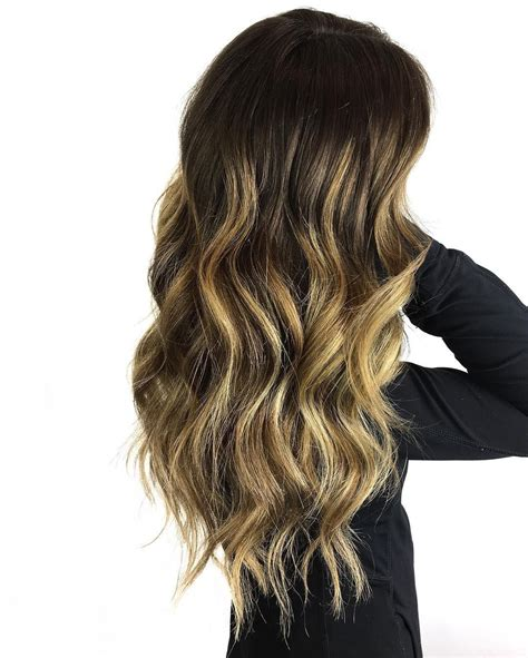 Brown Hair With Yellow Highlights by Yellow Balayage