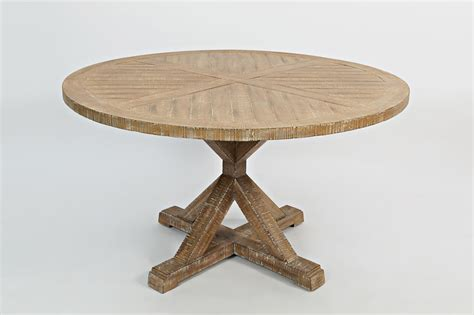 Pacific Heights Cream Coffee Wood Round Pedestal Dining