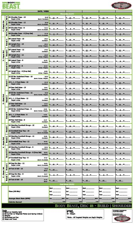 ultimate beast worksheets the ultimate beast worksheets workouts