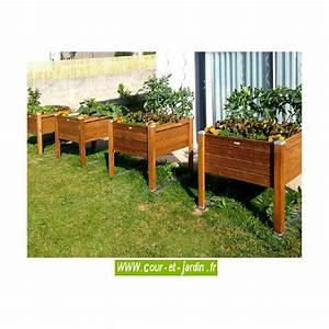 Bac En Bois Pour Jardin : carr potager sur pieds bois bac sur lev de jardin table de culture ~ Melissatoandfro.com Idées de Décoration