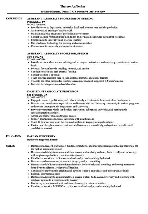 resume  university professor