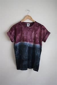 Tie And Dye Marron : dip dye ombre tie dye t shirt unisex burgundy by jessirwinclothing ~ Melissatoandfro.com Idées de Décoration