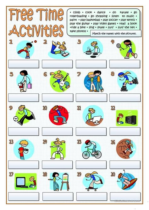 time activities follow  worksheets