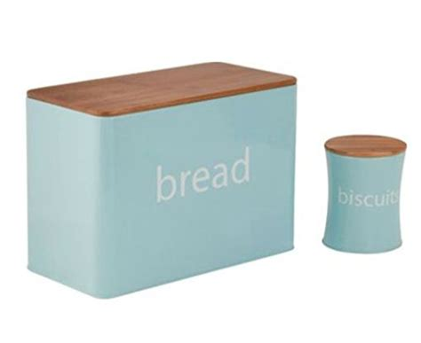 duck egg kitchen accessories colourmatch 5 duck egg blue bamboo lid storage set 6983