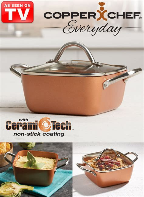 copper chef everyday  casserole pan feel good store