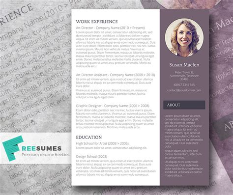 free resume template the sophisticated candidate