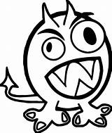 Monster Coloring Halloween Alien Wecoloringpage sketch template
