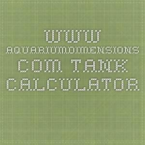 Aquariumdimensions Com Tank Calculator
