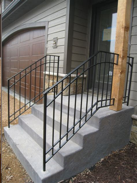 Outdoor Banisters And Railings by Exterior Step Railings O Brien Ornamental Iron Show My