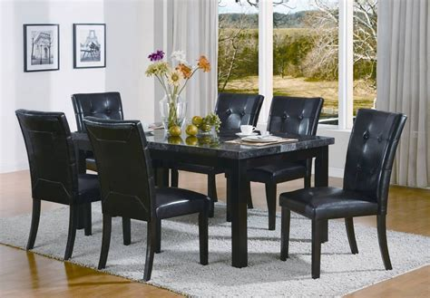 Black Dining Set for Elegant House Furnishing