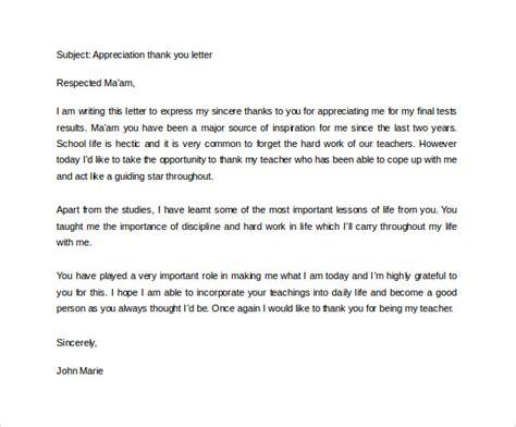 sample   letters  teacher