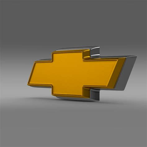 logo chevrolet 3d chevrolet logo 3d model buy chevrolet logo 3d model