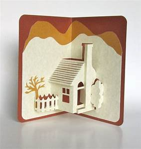 Pop Up Home : home pop up 3d card home d cor origamic architecture handmade in ivory and earth tones of ~ Melissatoandfro.com Idées de Décoration