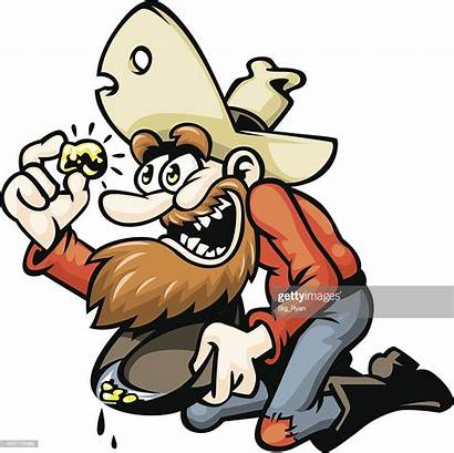 Miner Gold Cartoon Rush Vector Illustration Cartoons