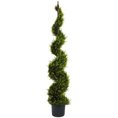 nearly natural 5 ft green cypress spiral tree 5325 the