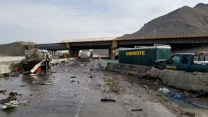 3 injured after port-a-potty truck took a spill on I-80 in ...