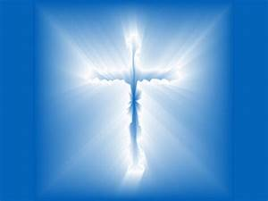 Christian Graphic: Blue Cross Wallpaper