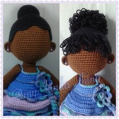 Doll Crochet Bun Hairstyles Ballerina Bangs Curly