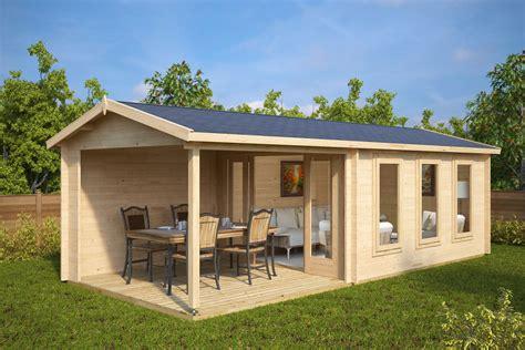 gartenhaus mit überdachter terrasse gartenhaus mit terrasse e 12m 178 44mm 3x7 hansagarten24