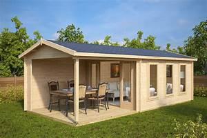 Gartenhaus Mit Terrasse : gartenhaus mit terrasse eva e 12m 44mm 3x7 hansagarten24 ~ Whattoseeinmadrid.com Haus und Dekorationen